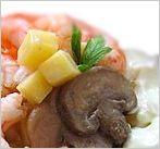 Тёплый салат с шампиньонами