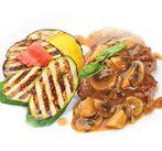 Голень ягненка с овощами-гриль
