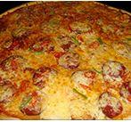 Пицца острая с перцем и колбасой